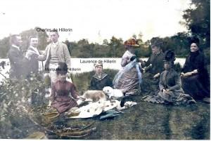 Picnic 1890 Charles de Hillerin, Maquise de Hillerin, Laurence de Hillerin